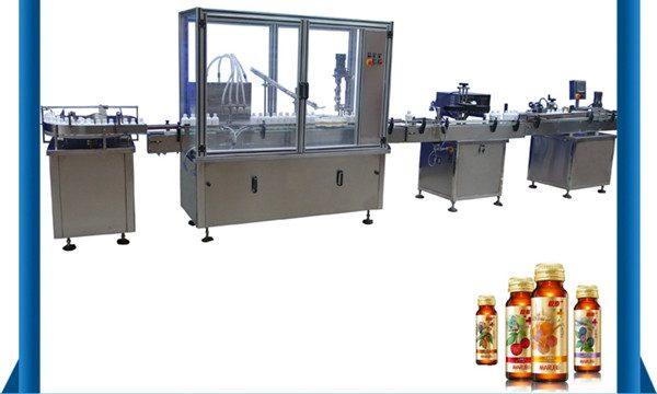 Hiina tarnija automaatne meepudeli vedeliku täitmise masin