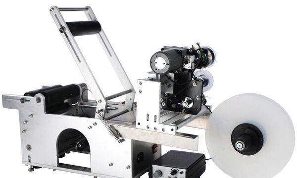 Poolautomaatne ümmarguse pudeli märgistamise masin