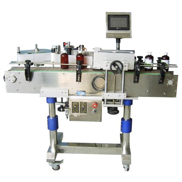 Automaatne ümmarguse pudeli kleebise märgistamise masin purkidele