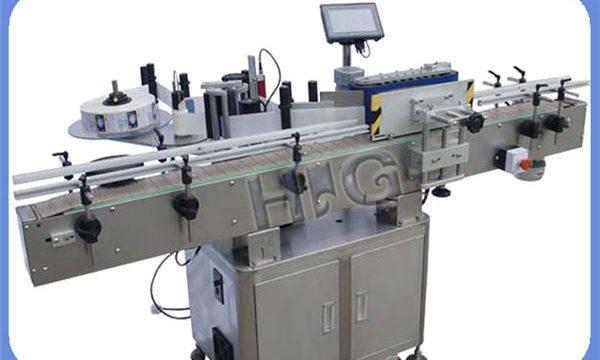 Automaatne NPACK ümmarguse pudeli märgistamise masina tootja koos printeriga