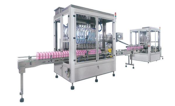 Roostevabast terasest automaatne pesuvahendi täitmise masin