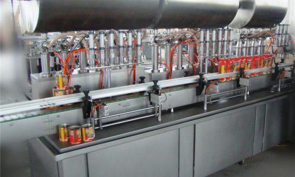 Topeltpeaga täisautomaatne tšilli pasta täitmise masin